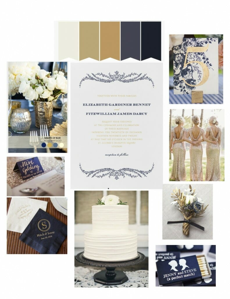 paperless post navy and gold